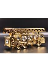 Crystal Temptations Miscellaneous - Miniatuur Brandweerauto - verguld en met Swarovski