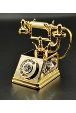 Crystal Temptations Miscellaneous - Miniatuur Retro Telefoon - verguld en met Swarovski