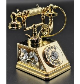 Crystal Temptations Miniature Retro Phone.  Gold-plated and with Swarovski