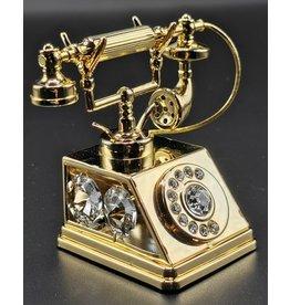Crystal Temptations Miniatuur Retro Telefoon - verguld en met Swarovski
