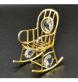 Crystal Temptations Miniature Rocking chair. Gold-plated and with Swarovski