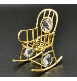 Crystal Temptations Miniatuur Schommelstoel - verguld en met Swarovski