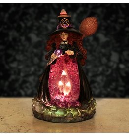 Witches cave Heksen Kristalgrot LED  Backflow Wierookhouder