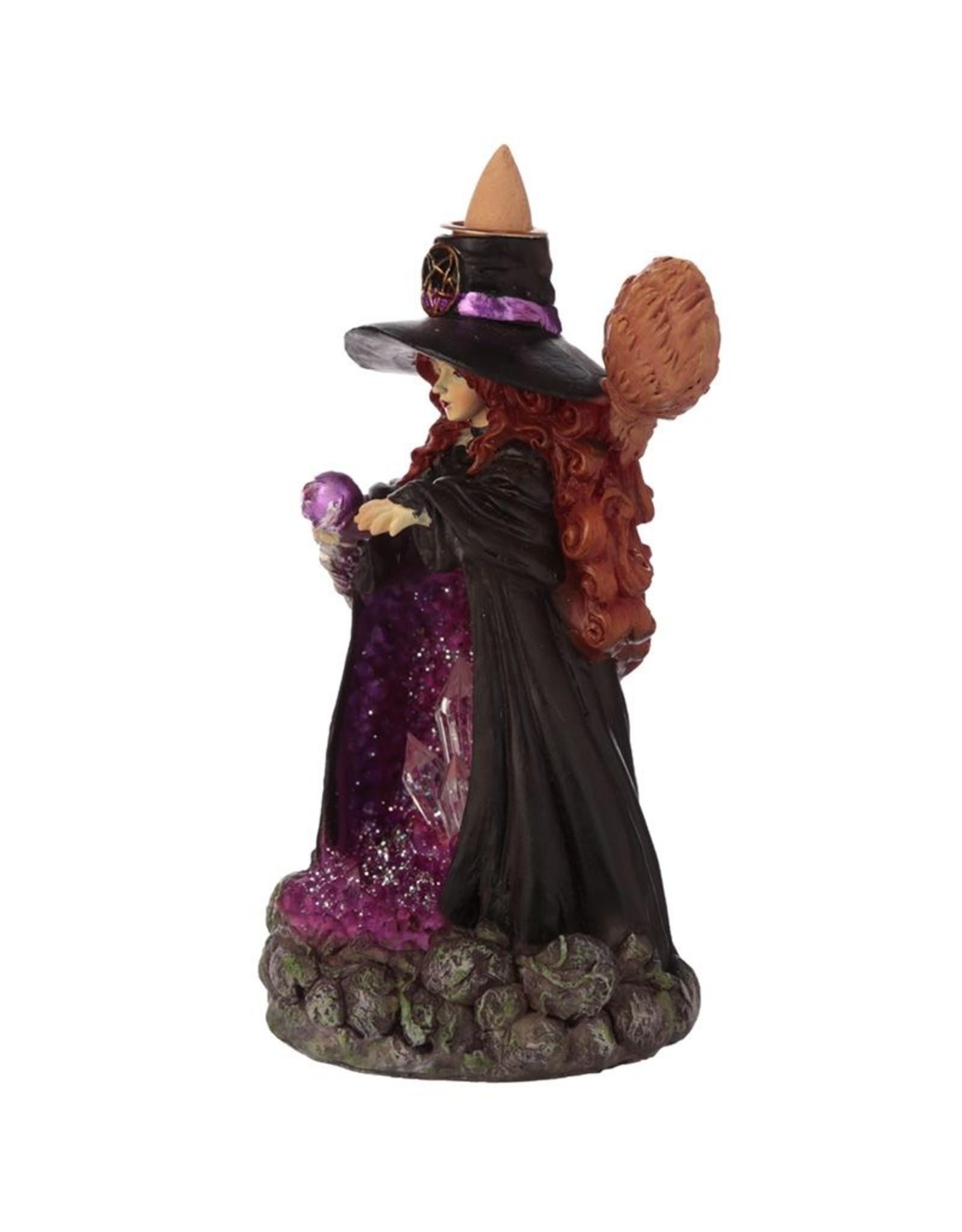 Witches cave Giftware Beelden Collectables  - Heksen Kristalgrot LED  Backflow Wierookhouder