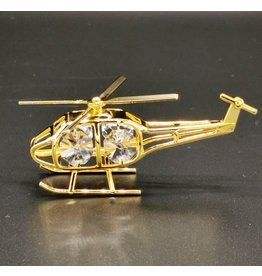 Crystal Temptations Miniature Helicopter. Gold-plated and with Swarovski