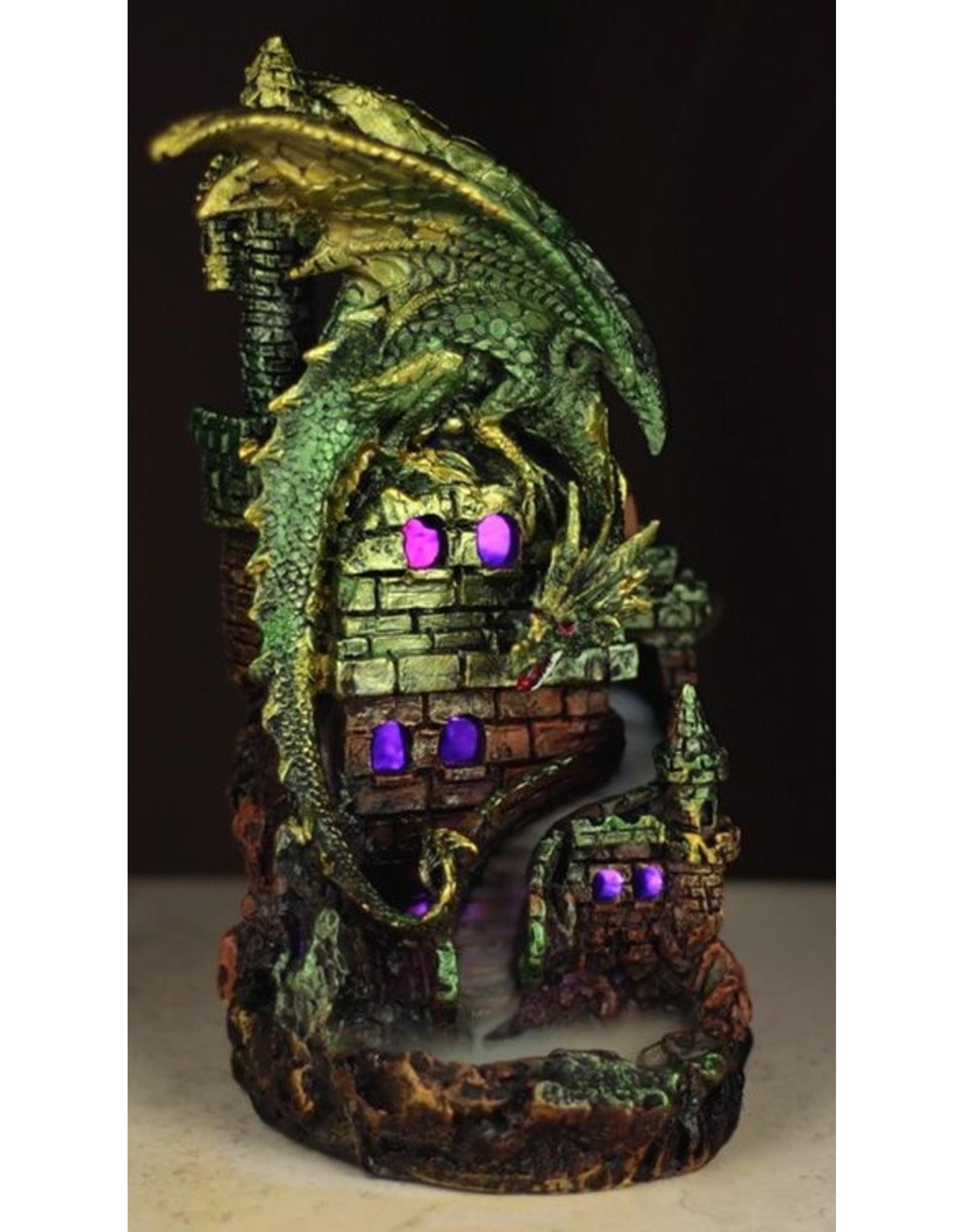 Dragon Castle Giftware Beelden Collectables  - Draken Kasteel LED Backflow Wierookhouder
