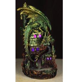 Dragon Castle Draken Kasteel LED Backflow Wierookhouder