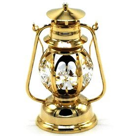Crystal Temptations Miniature Storm Lantern. Gold-plated and with Swarovski