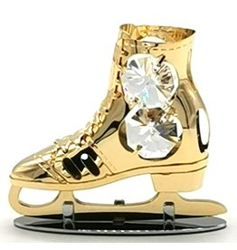 Crystal Temptations Miniature skate, gold-plated and with Swarovski