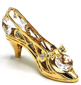 Crystal Temptations Miniature Ladies shoe. Gold-plated and with Swarovski