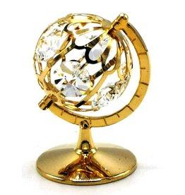 Crystal Temptations Miniatuur Wereldbol - verguld en met Swarovski