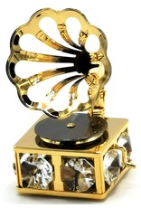 Crystal Temptations Miscellaneous - Miniatuur Grammofoon - verguld en met Swarovski