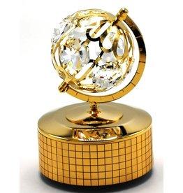Muziekdoosje Globe Music box Globe with Swarovski crystals