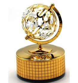 Muziekdoosje Globe Muziekdoosje Globe met Swarovski kristallen