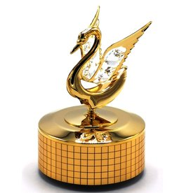 muziekdoosje Gouden Zwan Muziekdoosje Gouden Zwaan met Swarovski kristallen
