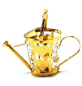 Crystal Temptations Miniature Watering can. Gold-plated and with Swarovski