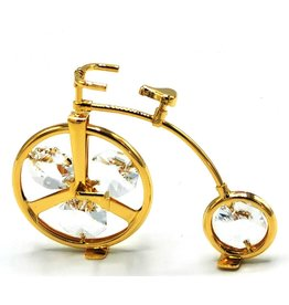 Crystal Temptations Miniature Victorian bicycle. Gold-plated and with Swarovski