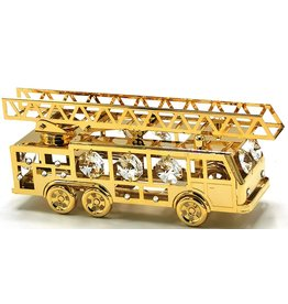 Crystal Temptations Miniature Fire truck - gold-plated and with Swarovski