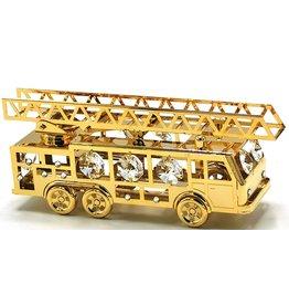 Crystal Temptations Miniatuur Brandweerauto - verguld en met Swarovski