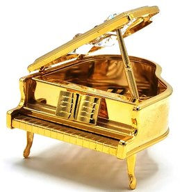 Crystal Temptations Miniature Grand Piano. Gold-plated, with Swarovski