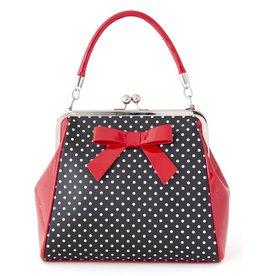 Banned Banned Polka Star handbag black-red