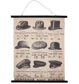 Chapeaux pour Hommes Wall chart Men's hats - Chapeaux pour Hommes