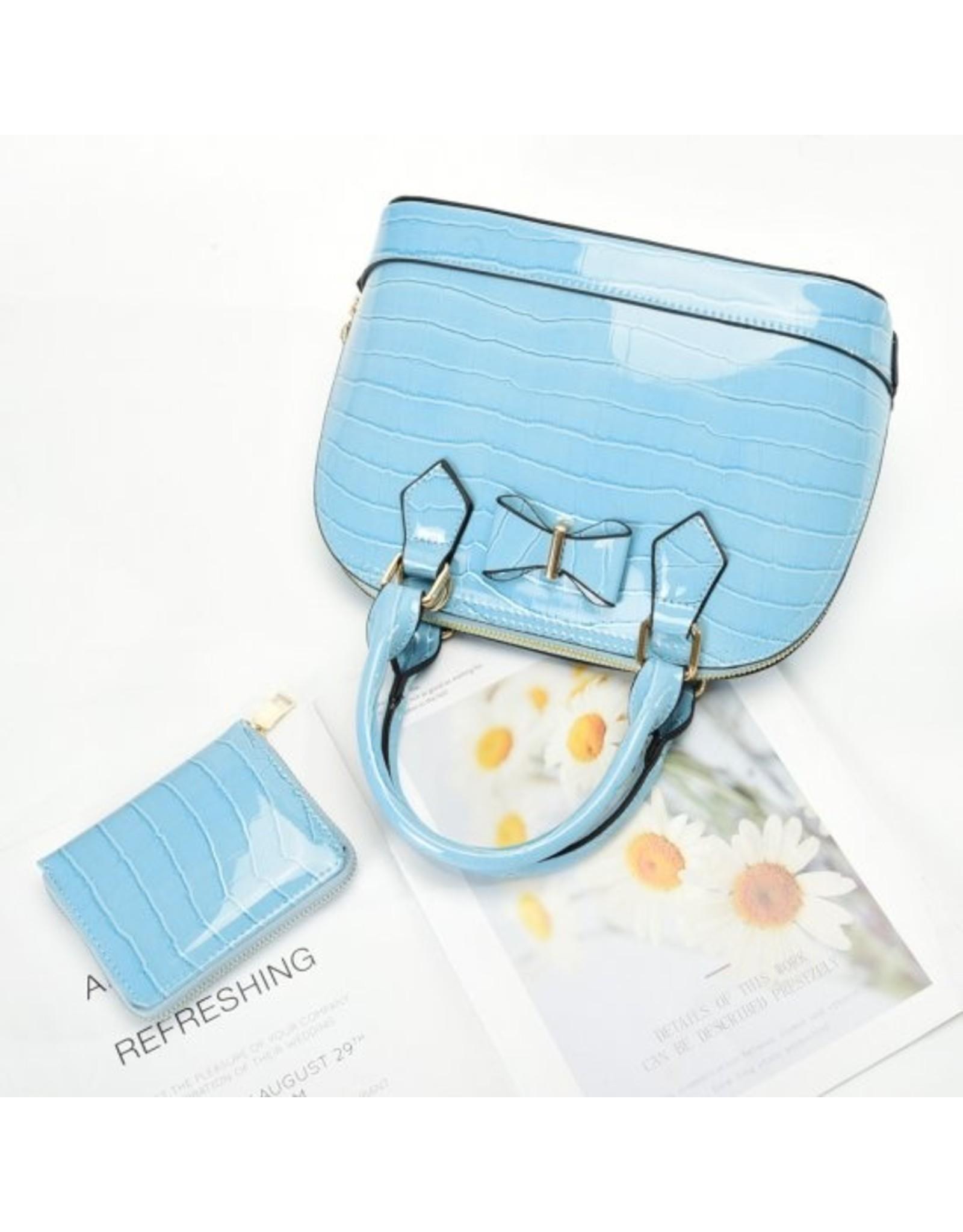 Trukado Modieuze tassen - Handtas met strik Little Bow lichtblauw