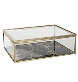 Glazen juwelendoosje Glazen Juwelendoosje - presentatiedoosje  20x16x6 cm