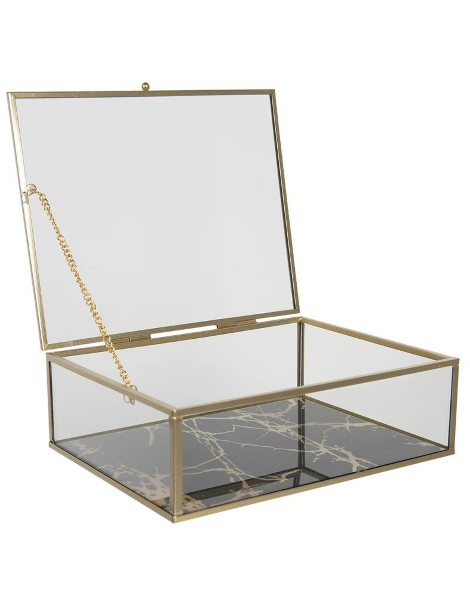 Glazen juwelendoosje Miscellaneous - Glazen Juwelendoosje - presentatiedoosje  20x16x6 cm
