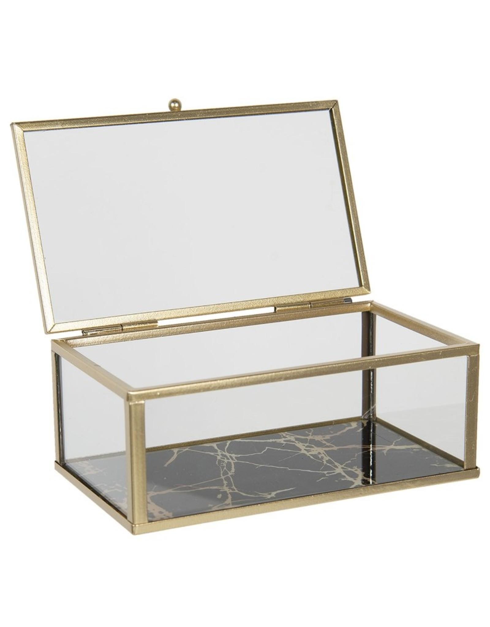 Glazen juwelendoosje Miscellaneous - Glass jewellery box  - presentation box 17x10x7 cm
