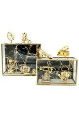 Glazen juwelendoosje Miscellaneous - Glazen Juwelendoosje - presentatiedoosje 17x10x7 cm