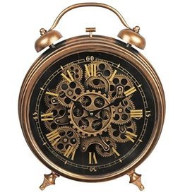 Steampunk wandklok-tafelklok Steampunk table clock - wall clock copper-colored metal