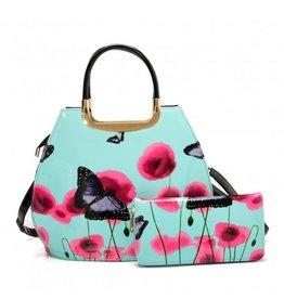 Trukado Handbag with butterflies Vintage Butterfly blue