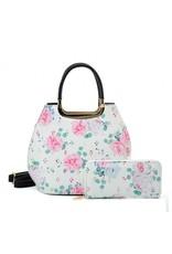 Trukado Fashion bags - Handbag with flowers Vintage roses white