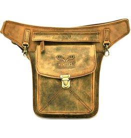 Hunters Hunters waist bag vintage look tanned leather