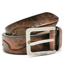 "HillBurry Leather belt HillBurry ""Waves"" - solid leather"
