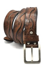 HillBurry Leather belts and buckles - Leather belt HillBurry Antique brow, solid leather