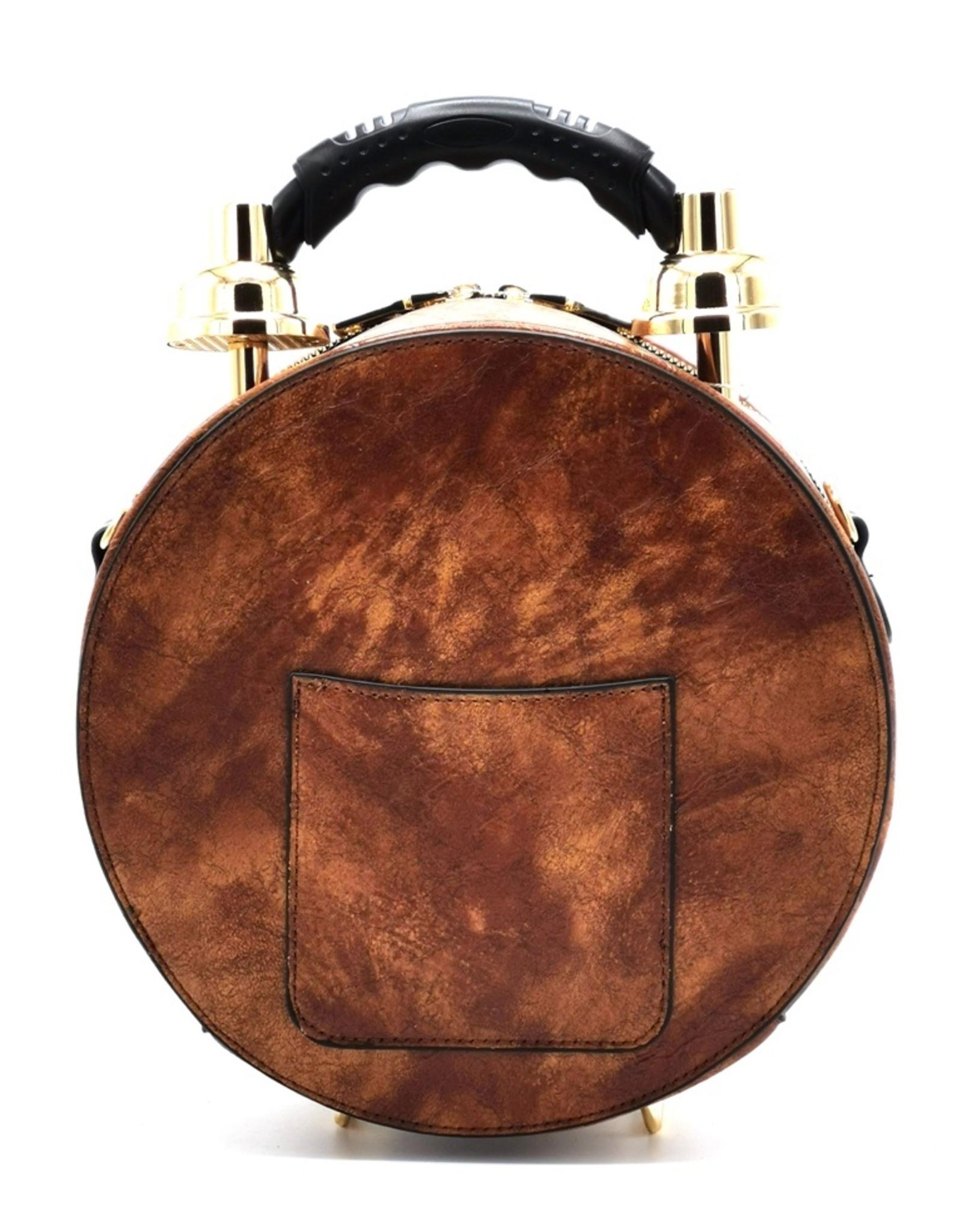 Magic Bags Fantasy tassen en portemonnees - Handtas met Echte Klok lichtbruin (medium)