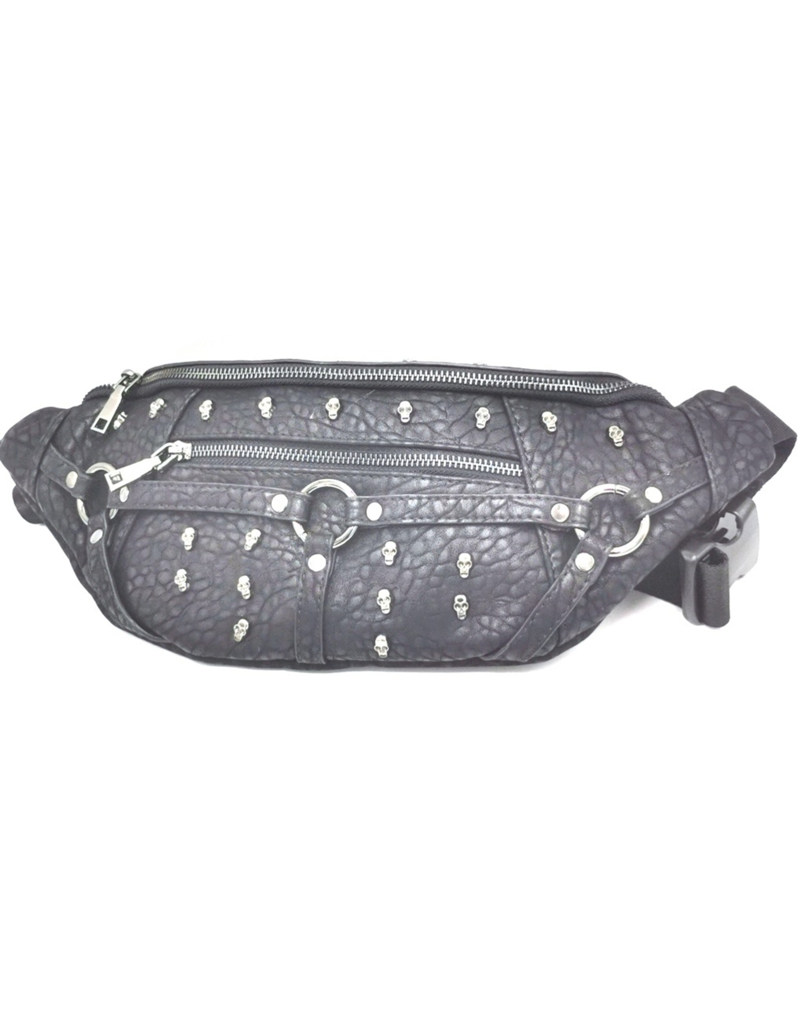 Dark Desire Gothic bags Steampunk bags - Gothic waist bag with small metal skulls