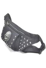 Dark Desire Gothic tassen Steampunk tassen -  Gothic heuptas met grote metalen schedel en studs