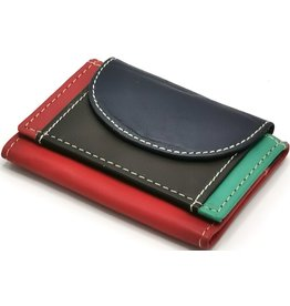 Hutmann Leather mini wallet in colored leather