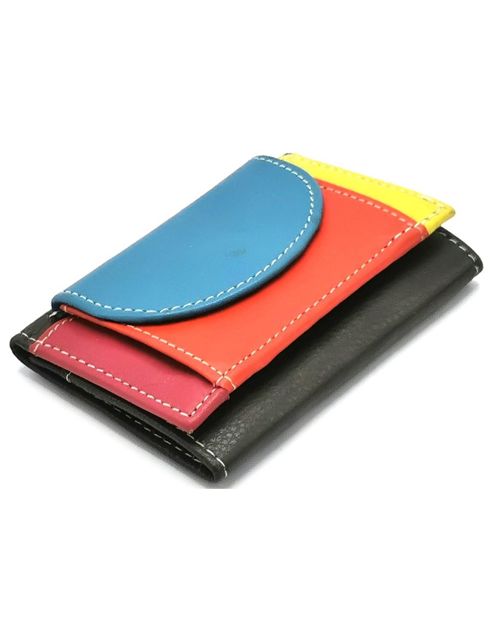 Hutmann Leather Wallets - Genuine leather colored mini wallet