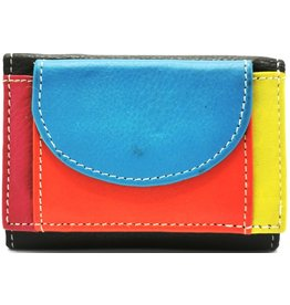 Hutmann Mini Portemonnee van gekleurd echt leer