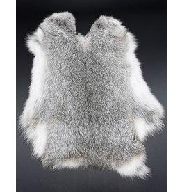 Konijnenvacht Konijnenvacht grijs 30cm x 40cm (zacht en geurloos)