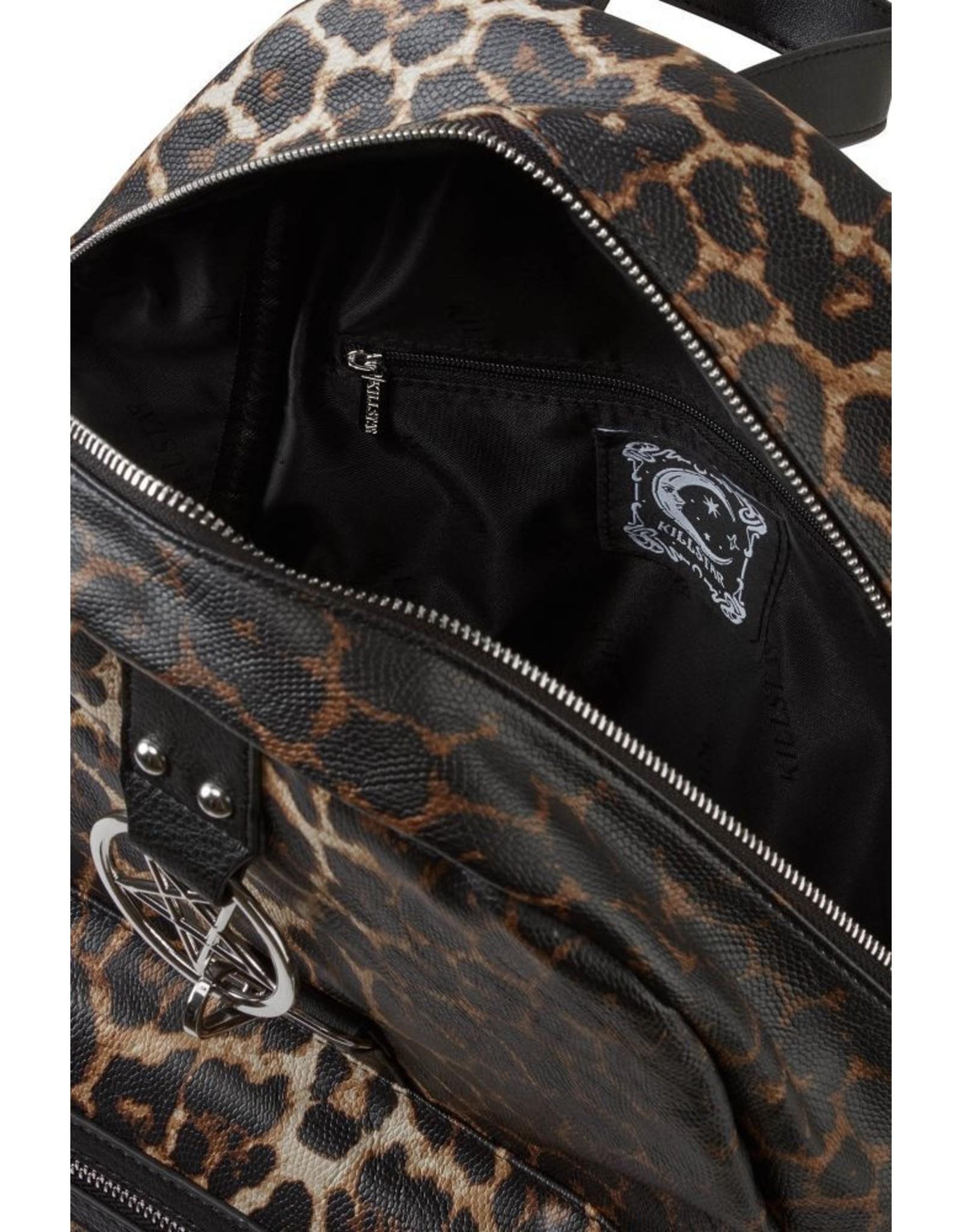 Killstar Killstar bags and accessiries - Killstar backpack Primal Scream (leopard)