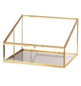 Trukado Glazen vitrinebox - opbergdoosje - juwelendoosje