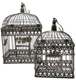 Decoratieve Vogelkooi Metalen Vogelkooi Vintage Look - Set van 2