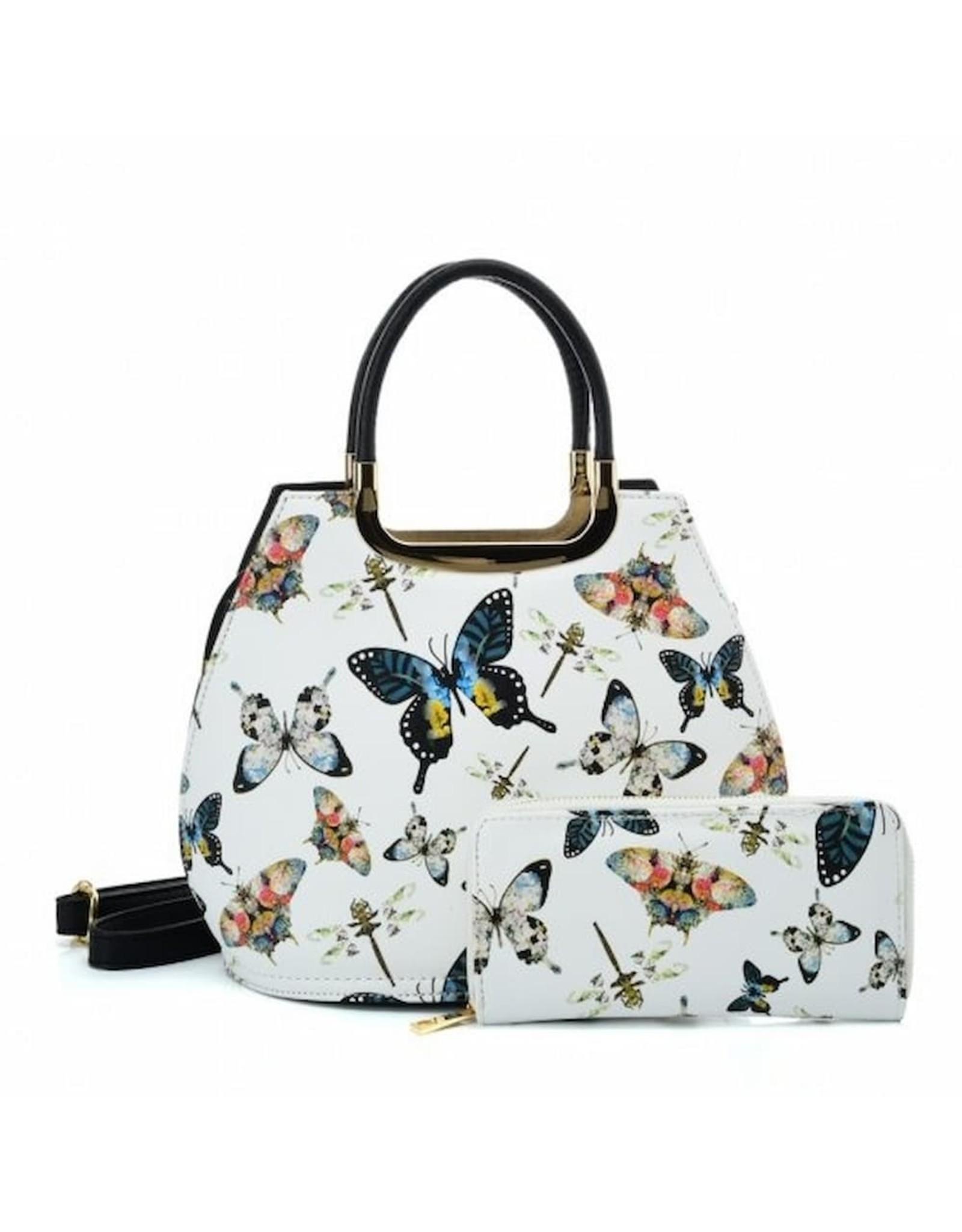 Trukado Fashion bags - Handbag with butterflies Butterfly white