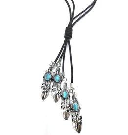 Trukado Necklace Ibiza - nickel-free, leather cord