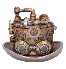 Nemesis Now Steampunk hoedenmaker opbergbox 14.5cm